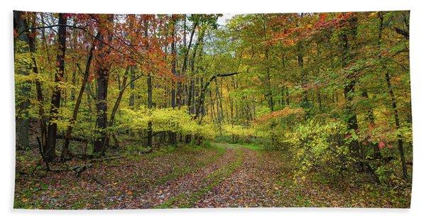 Travels Through Autumn Hand Towel