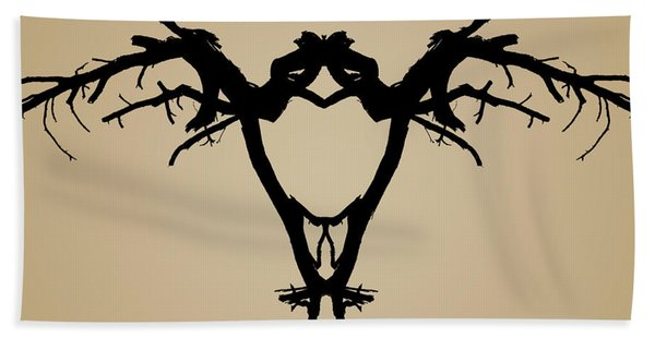 Tree Bird Toned Hand Towel