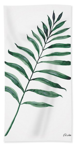 Tropical Greenery - Palm Tree Leaf Bath Towel