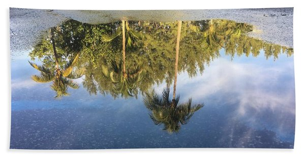 Tropical Reflections Delray Beach Florida  Bath Towel