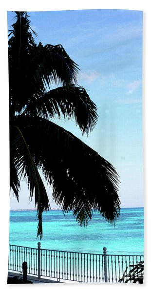 Tropical Sea View From Patio Bath Towel