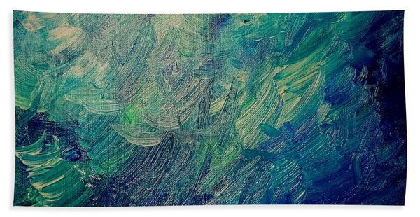 Turbulent Sea Bath Towel