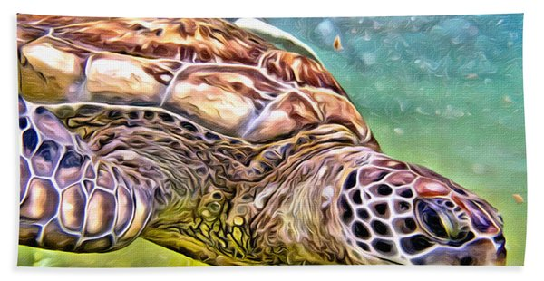 Turtle Dive Hand Towel
