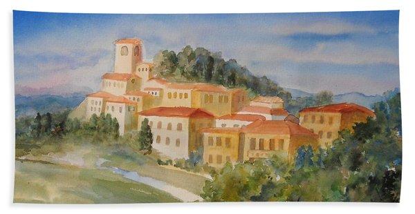 Tuscan Hilltop Village Hand Towel