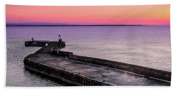 Twilight, Burghead Harbour Hand Towel