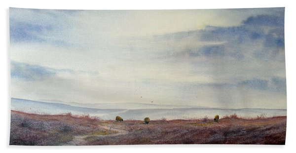 Twilight Settles On The Moors Hand Towel