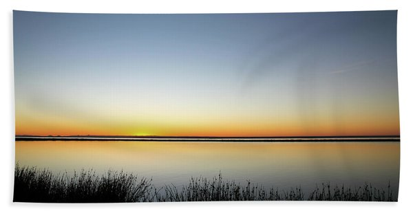 Twilight Stillness Down By The Beach Lagoon Bath Towel
