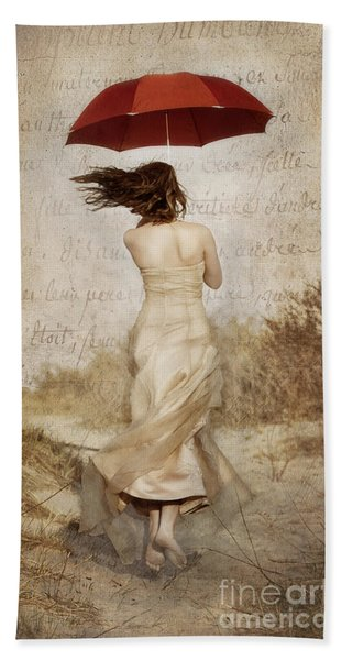 Twirling Painted Lady Bath Towel