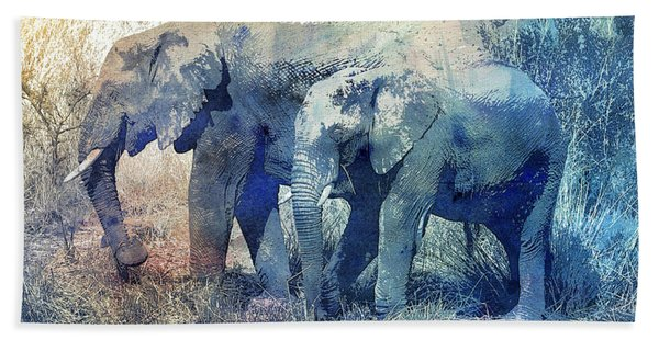 Two Elephants Hand Towel