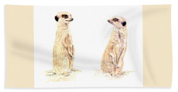 Two Meerkats Bath Towel