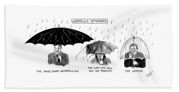 Umbrella Offender Bath Towel