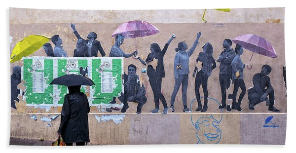 Umbrellas In Paris Hand Towel