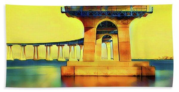 Under The Coronado Bridge Hand Towel