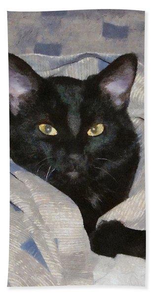 Undercover Kitten Hand Towel