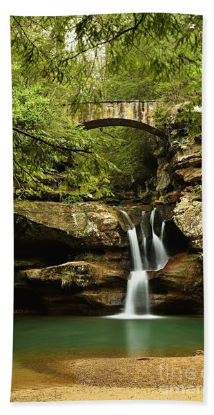 Upper Falls, Hocking Hills State Park Hand Towel