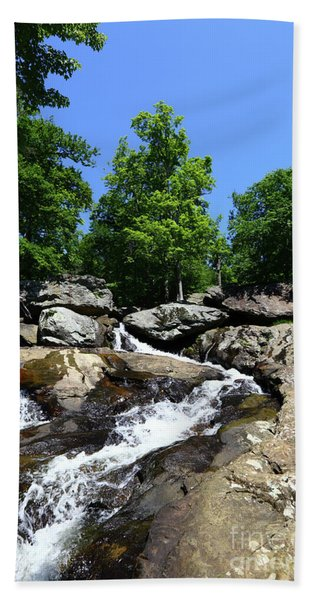 Upper Section Of Cunningham Falls Maryland Hand Towel