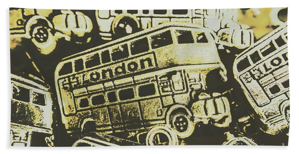 Urban Bus Mural Hand Towel