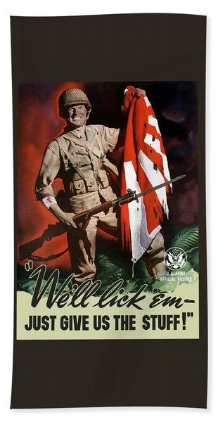 Us Army -- World War Two Propaganda Bath Towel