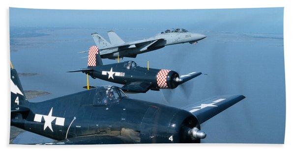 Us Navy Lagacy Flight  Bath Towel