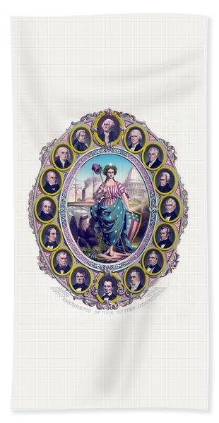 Us Presidents And Lady Liberty  Hand Towel
