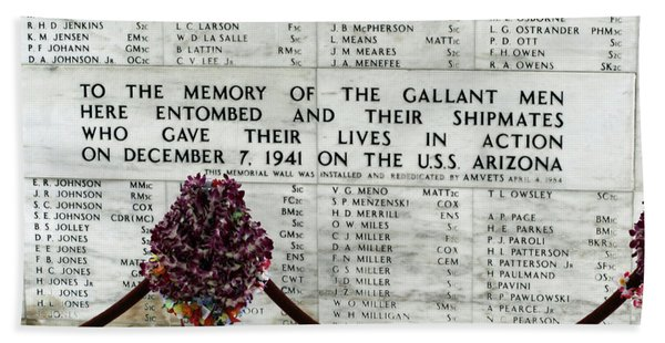 U.s.s. Arizona Memorial Bath Towel