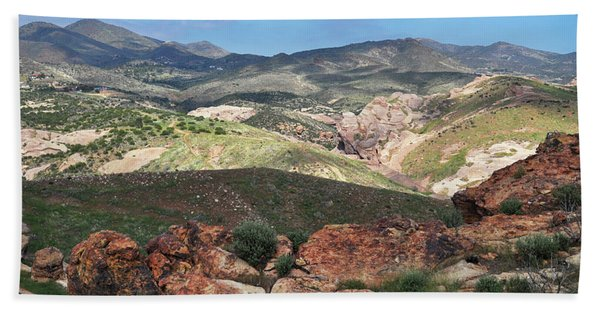 Vasquez Rocks Park Hand Towel