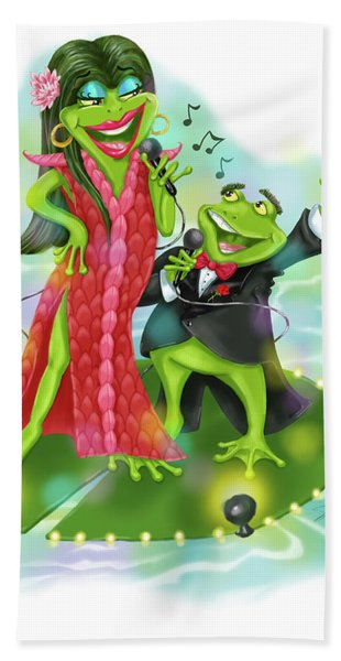 Vegas Frogs Lounge Act Bath Towel