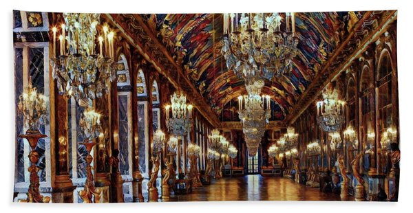 Versailles Hall Of Mirrors Hand Towel