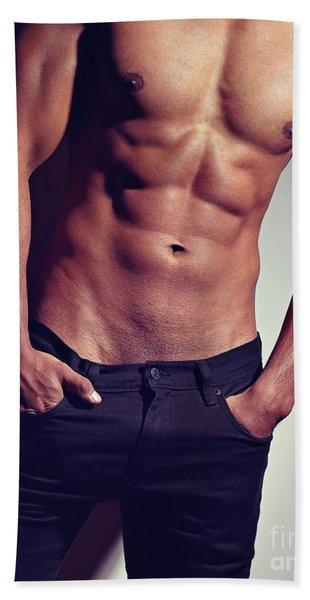 Very Sexy Man With Great Body Bath Towel