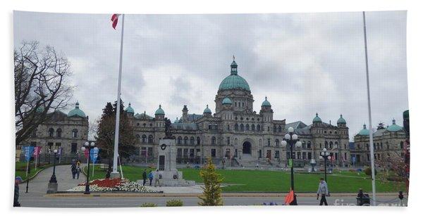 Victoria British Columbia Parliament Building Hand Towel
