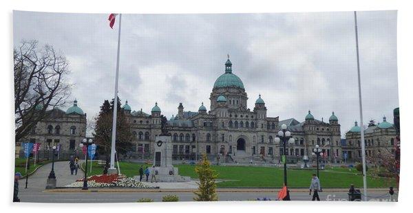 Victoria British Columbia Parliament Building Bath Towel