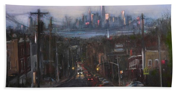 Victory Boulevard At Dusk Bath Towel