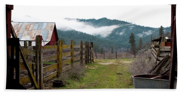 Bath Towel featuring the photograph View From A Barn by Lorraine Devon Wilke
