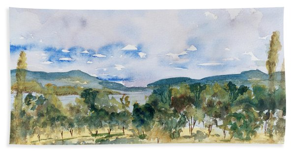 View Of D'entrecasteaux Channel From Birchs Bay, Tasmania Hand Towel