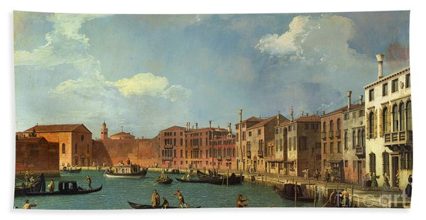 View Of The Canal Of Santa Chiara Hand Towel