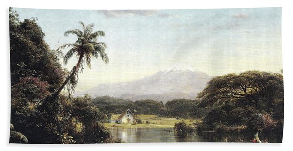 View On The Magdalena River Bath Towel
