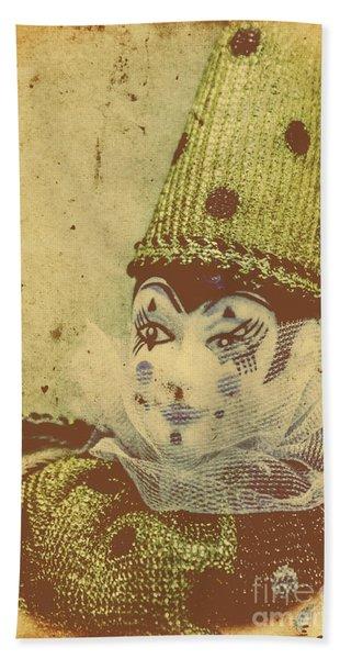 Vintage Circus Postcard Hand Towel
