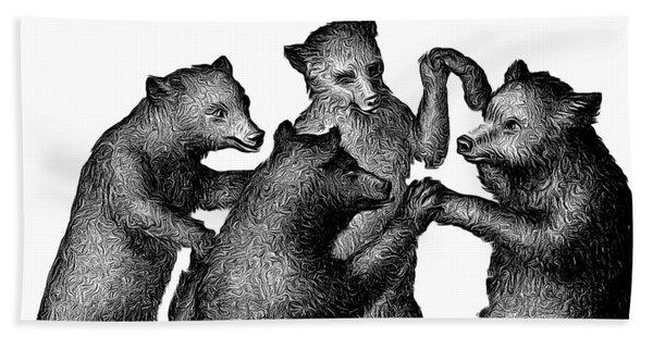 Vintage Dancing Bears Bath Towel