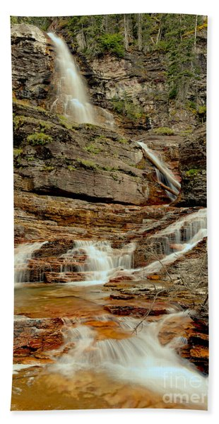 Virginia Falls Portrait Hand Towel