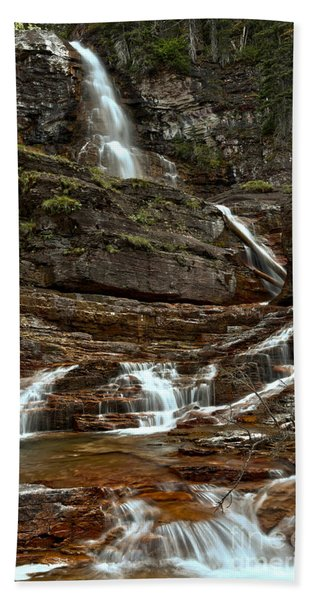 Virginia Falls Red Rocks Hand Towel