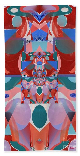 Abstract Vortex In Red Hand Towel