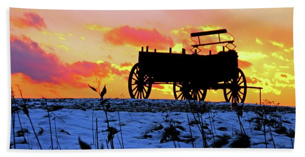 Wagon Hill At Sunset Hand Towel