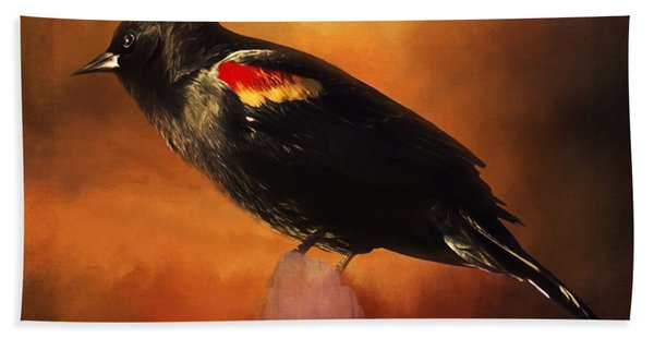 Waiting - Bird Art Hand Towel