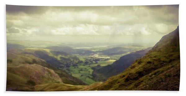Walking In The Mountains, Lake District, Bath Towel