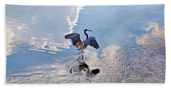 Bath Towel featuring the photograph Walking On Water by Carolyn Marshall