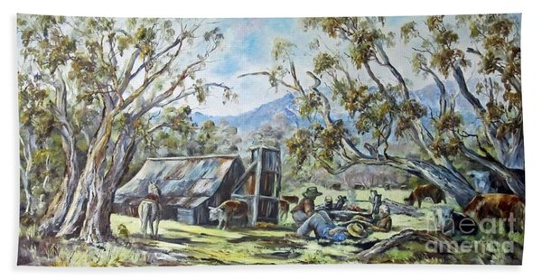 Wallace Hut, Australia's Alpine National Park. Bath Towel