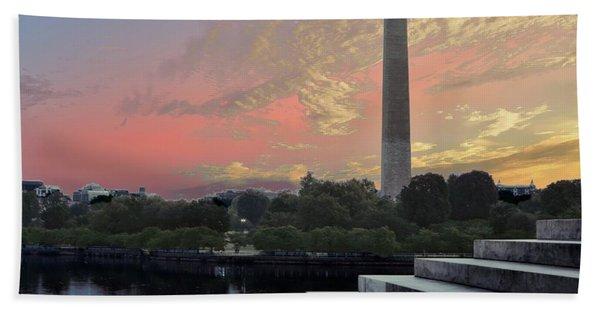 Washington And Steps Hand Towel