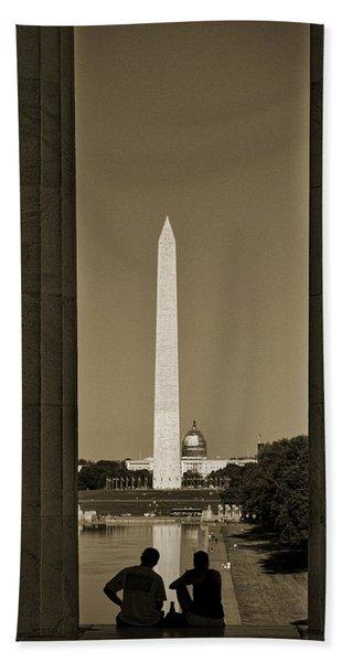 Washington Monument And Capitol #4 Hand Towel