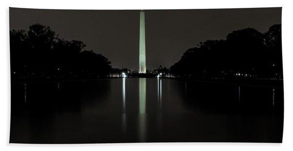 Washington Monument At Night Hand Towel