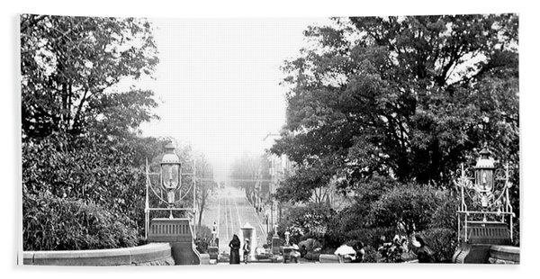 Washington Monument Grounds Baltimore 1900 Vintage Photograph Hand Towel